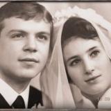 В день бракосочетания