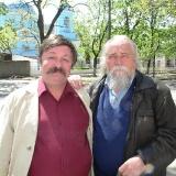 Дмитро Кремiнь i художник Андрiй Антонюк
