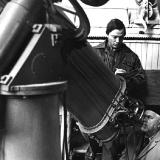 Клим Чурюмов и профессор Сергей Всехсвятский в обсерватории Киевского университета