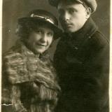Марк Лисянский и Анастасия Семёнова 19 ноября 1935 г. Фото из архива семьи М. Лисянского