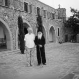 2002 г. Кипр. Монастырь Ставровуни с иконописцем Каллиникосом