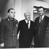 В. Ганичев с другом- поэтом Расулом Гамзатовым