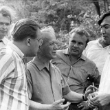В гостях у Михаила Шолохова- писатели С. Павлов, Ю. Мелентьев, Олжас Сулейменов. 1968 г.
