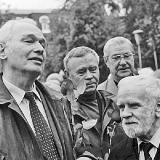 В Орле, на съезде писателей России. 2004 г. В. Белов, В. Крупин, В. Распутин, Д. Жуков