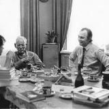 Издательство Молодая гвардия в Вешенской у Шолохова. 1983 г.