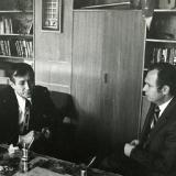С Евгением Евтушенко в редакции Молодой гвардии