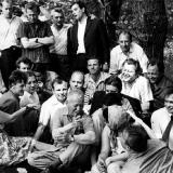 Ю.А. Гагарин и молодые писатели в гостях у Михаила Шолохова