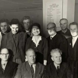 Борис Брайнин среди членов редколлегии немецкой газеты Нойес лебен (стоит второй справа). Январь 1965 г