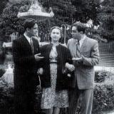 Н.А. Троянов и чета Луспекаевых. 1956 год