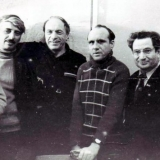 Вышеславский Л.Н. с писателями Биробиджана