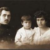 Николай Дмитриевич Вышеславский с женой Клеопатрой и сыном Леонидом 1916 год Кривой Рог