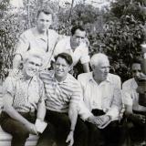 Слева на право стоят Вячеслав Качурин, Георгий Сарапион. Сидят Эмиль Январев, Яков Тублин, Владимир Высоков, Павел Елагин. 1967 год.