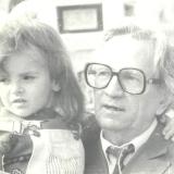 С внучкой 1995 г.