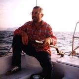 На руле, где-то у южных берегов Крыма. Август 2004 года