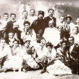Н. Н. Аркас среди самодеятельных актеров общества Просвіта г. Николаева. Фото 1900-х г.