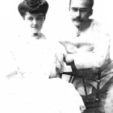 Дочь Н. Н. Аркаса – Ксения (Оксана) с мужем, пианистом В. А. Шестериковым