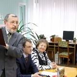 Владимир  Гладышев на презентации своей книги