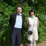 С художником Пузановой , 17 мая 2014 г.