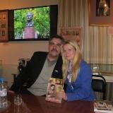 С правнучкой поэта М. Лисянского Александрой 2