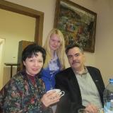 С певицей Ириной Шведовой и правнучкой М. Лисянского 2