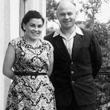 Журналисты газеты Бугская зоря Лина Балина и Михаил Божаткин. 1956 год