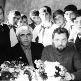 Январев и Качурин с николаевскими школьниками