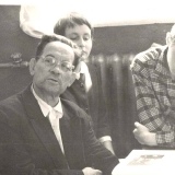 А.М. Топоров в литературно-краеведческом музее школы № 27 г., г. Барнаул. 17.07.1964 г.