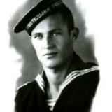 1944 год.  В. Чернавин- курсант I курса военно- морского училища