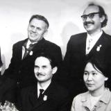 Після літературного вечора пам'яті Анатоля Олійника в Борзні 25 листопада 1972 р. Стоять перший справа Степан Крижанівський